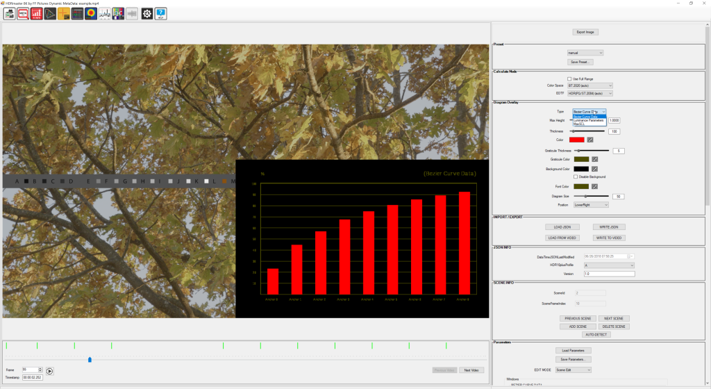 HDR 10+ dynamic metadata module: This tool lets you analyze existing metadata with visual representation in overlay graphics, add or edit scenes and even suggest metadata and scenes based on automated content analysis.